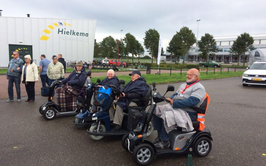 Heuse scootmobielrace voor de scootmobielclub uit Heerenveen